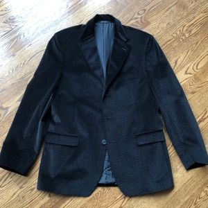 Luxury brand! Zegna Men's Velvet Patterned Blazer